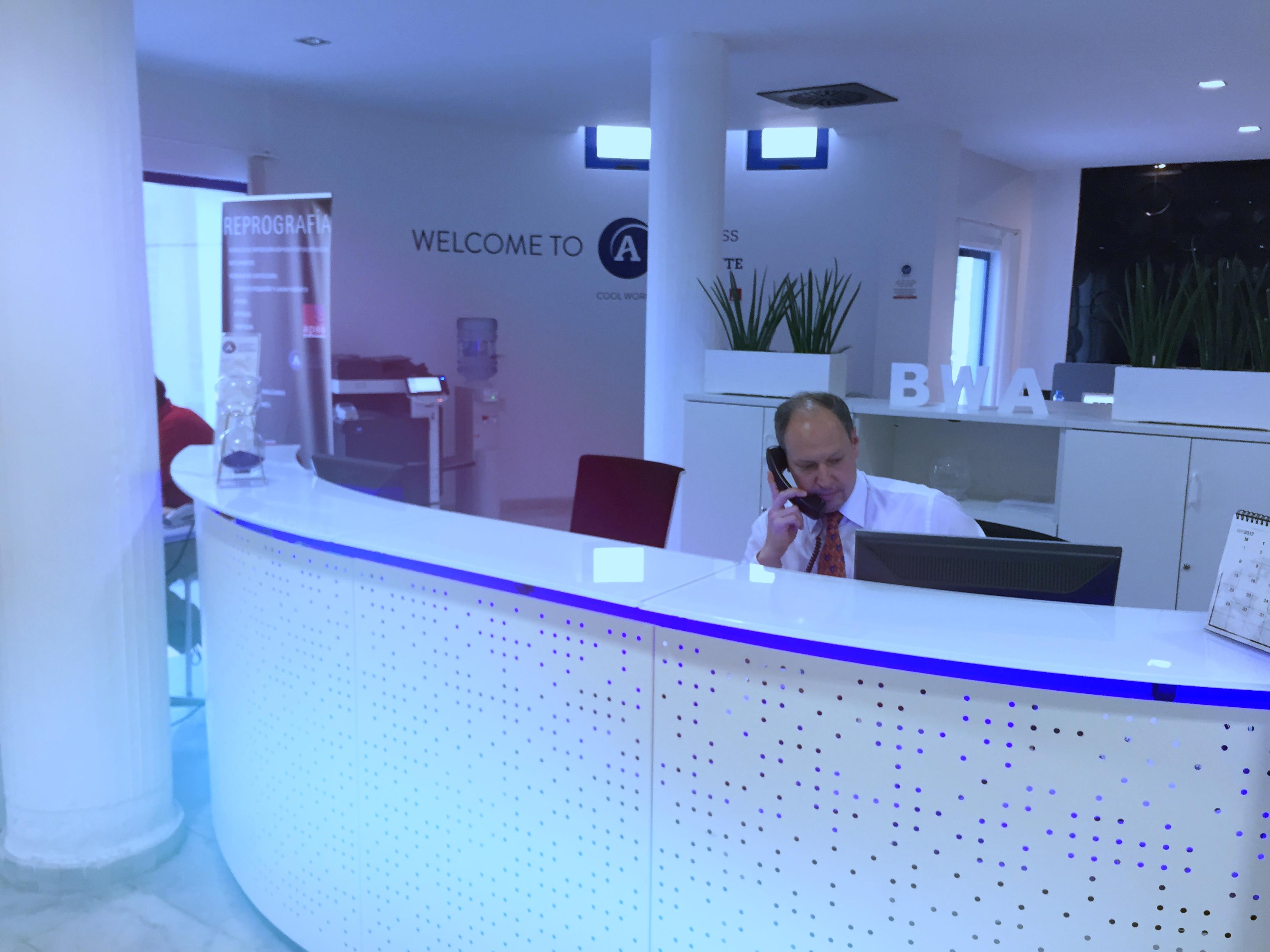 recepcion centro negocios